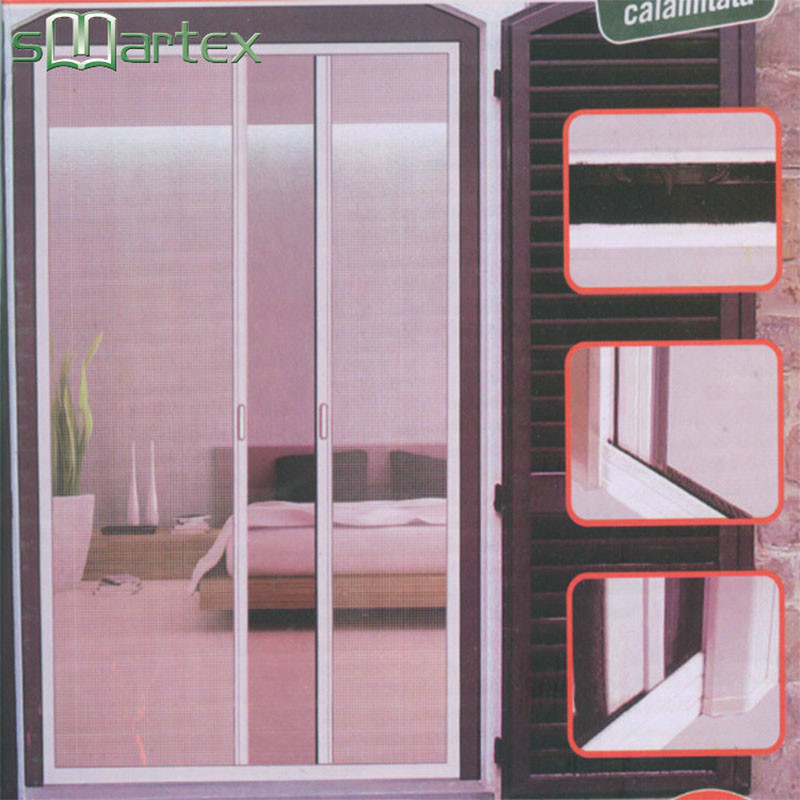 Insect screen window Roll Up Mosquito net door with REACH SVHC174