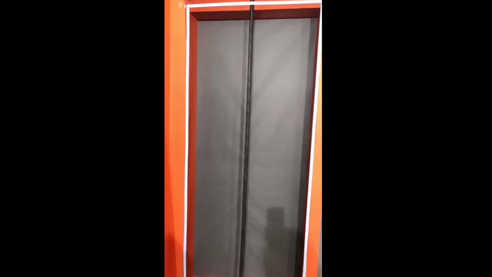 Magnetic curtain door