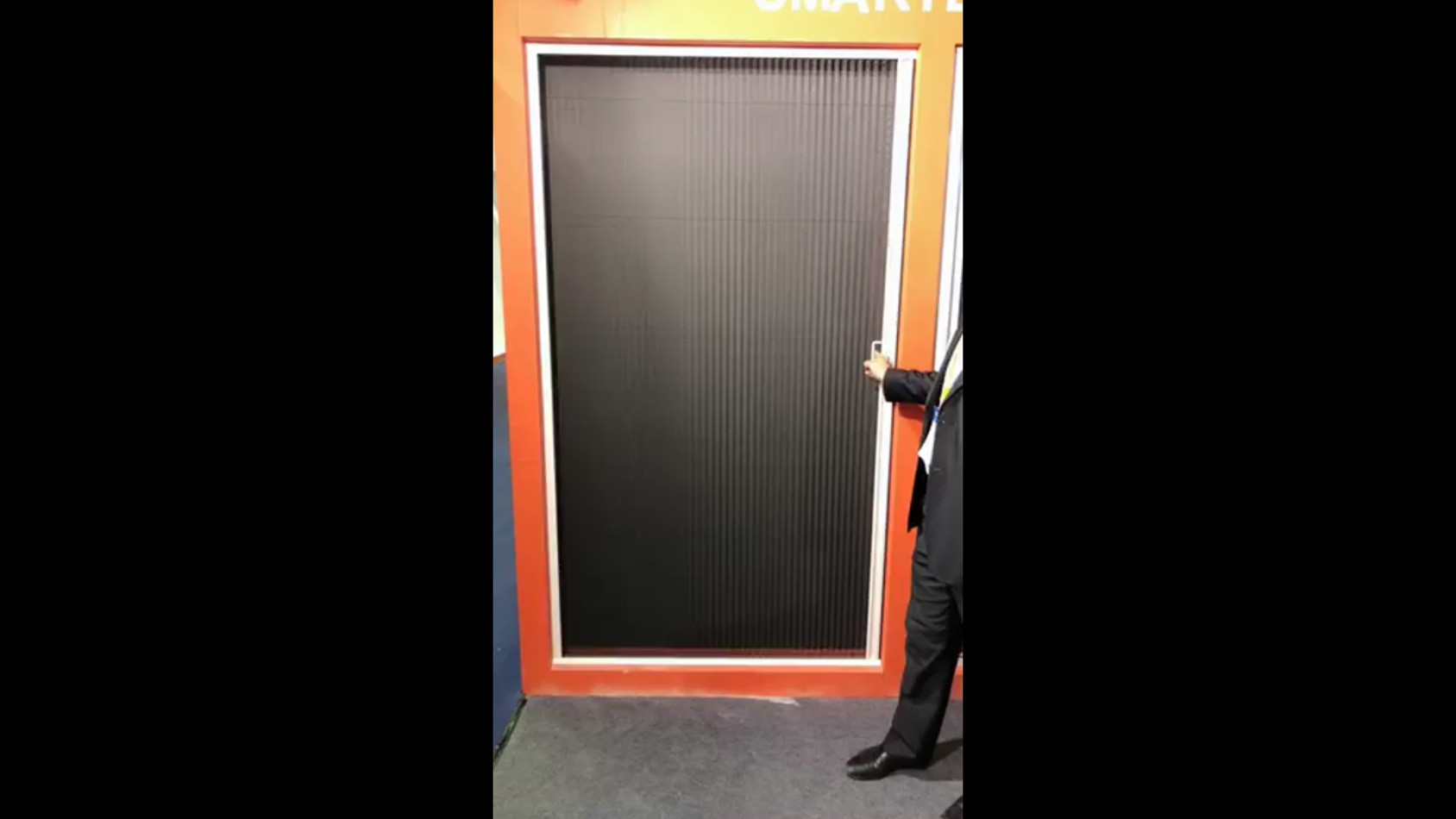 Pleated screen doorp-001