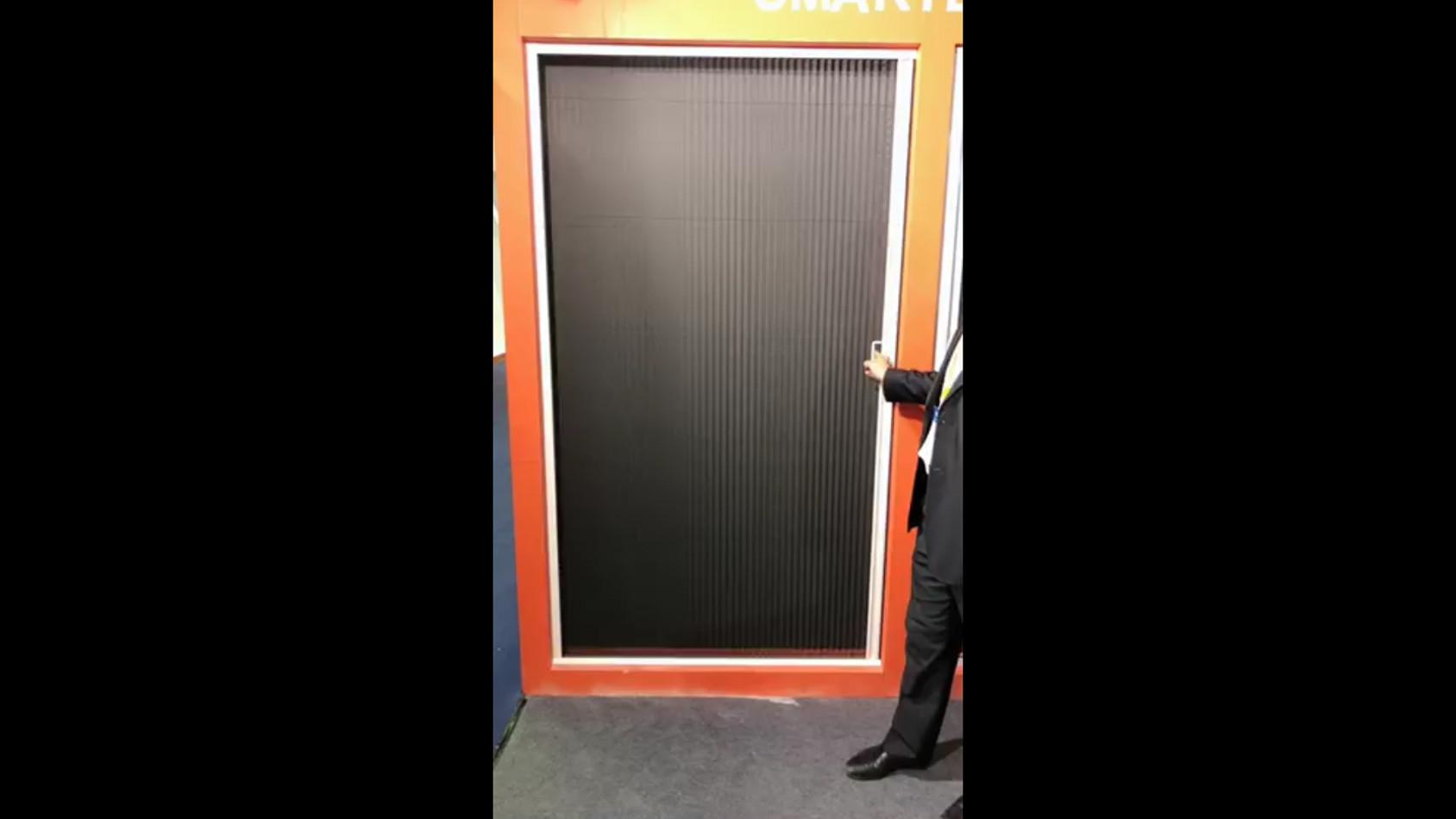 Pleated screen doorp-001