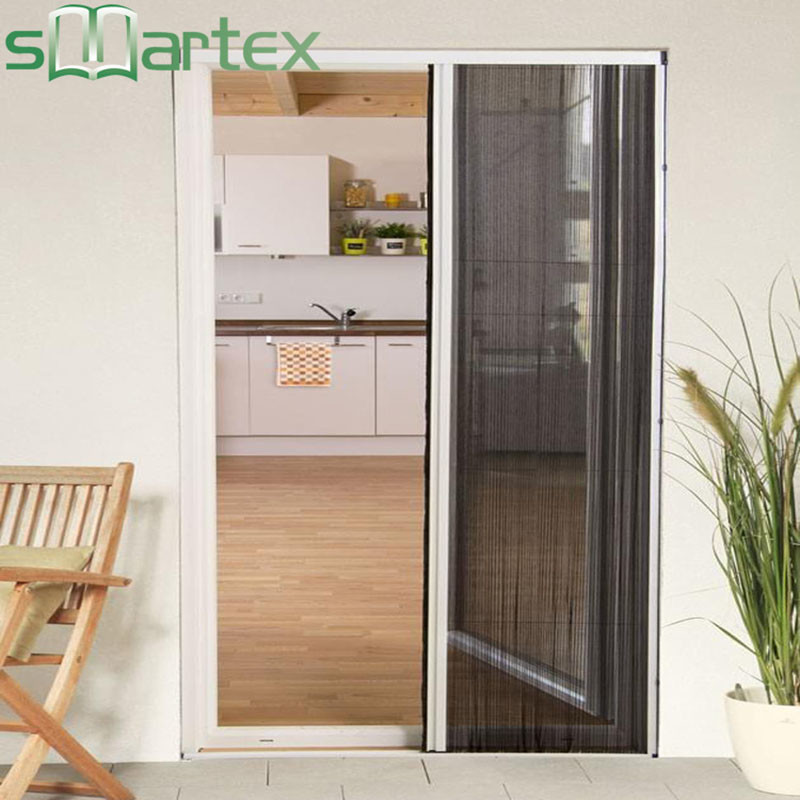 Plisse screen door plisse retractable screen with REACH SVHC174