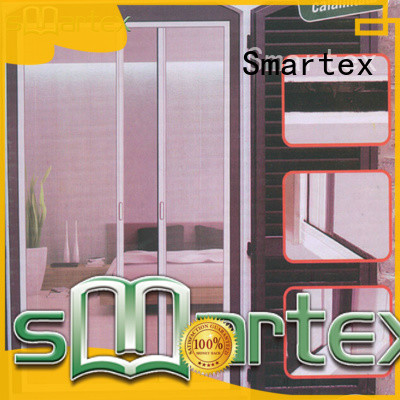 Smartex factory price magnetic fly screen door manufacturer for home
