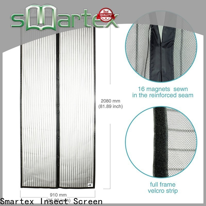Smartex magnetic screen door cover factory for home