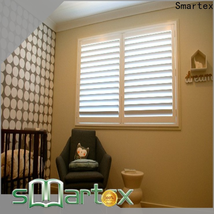 Smartex custom pvc shutters factory direct supply for preventing insects