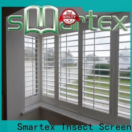 Smartex best pvc window shutters exterior wholesale for preventing insects