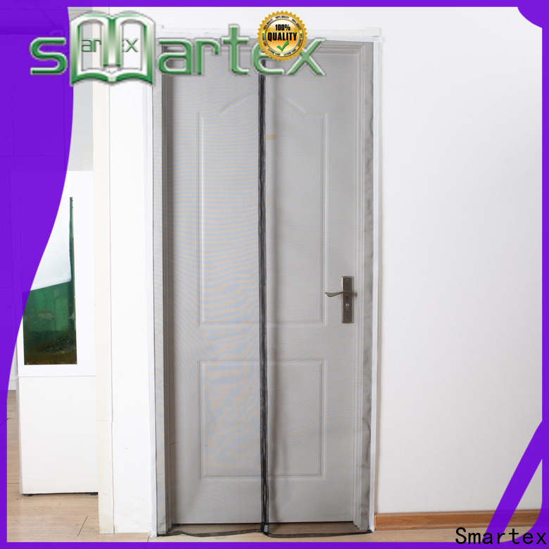 Smartex practical magnetic snap closure door screen best supplier for home use