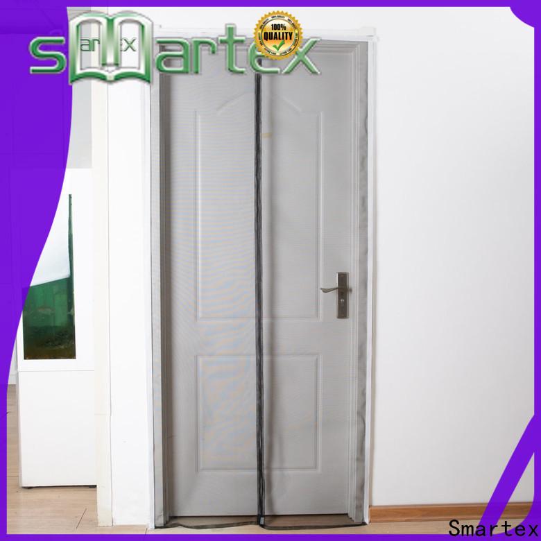 Smartex practical magnetic snap closure door screen best supplier for home use