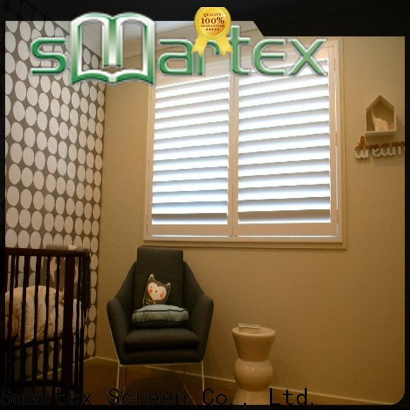 Smartex custom pvc shutters from China for comfortable life