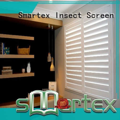 Smartex pvc exterior shutters wholesale for preventing insects