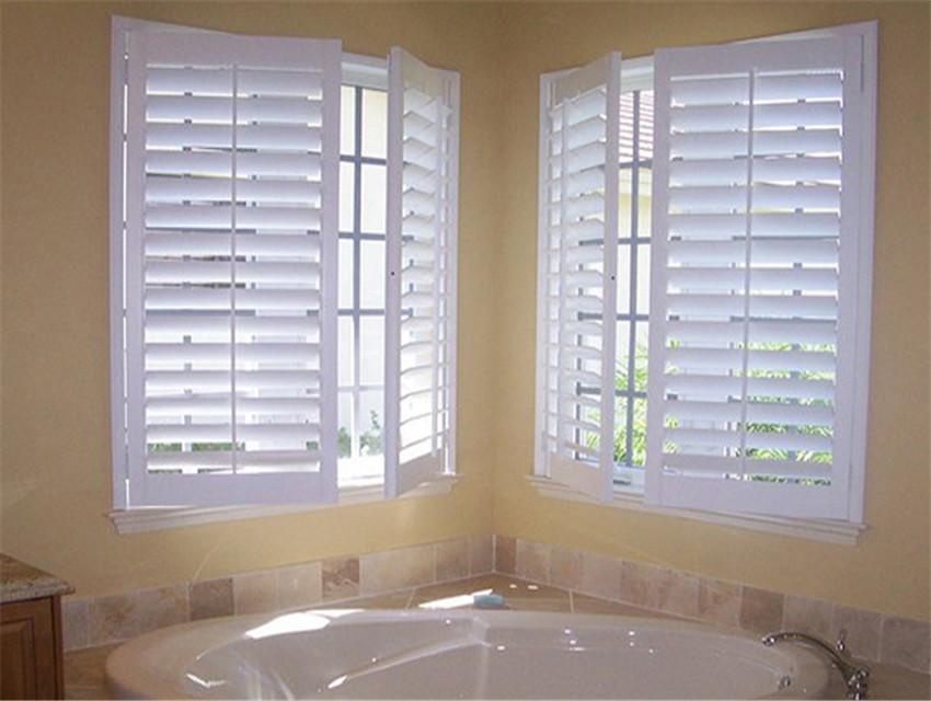 Bay window sliding plantation shutters low price