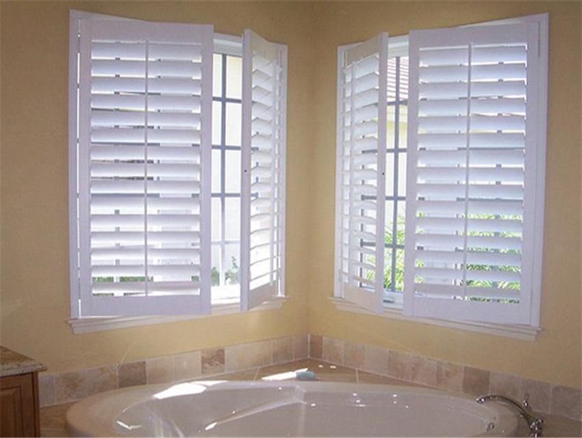 Bay window sliding plantation shutters low price