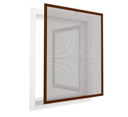 No drill tenter frame for windows with high visibility fiber glass mesh insect screen frame