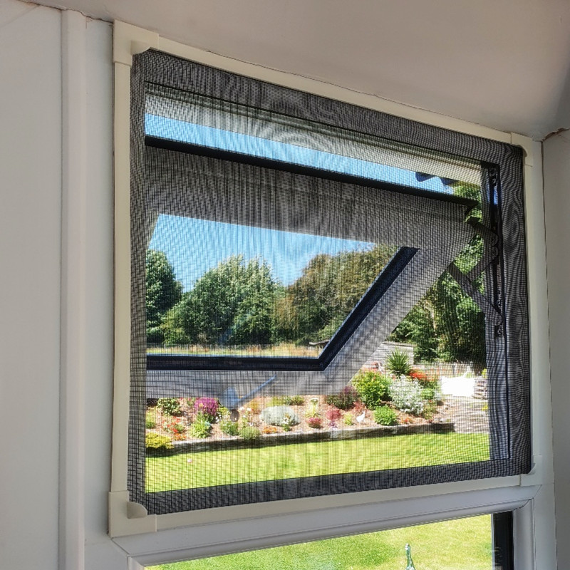 Magnetic Mesh Fly Screens for Windows available in any colors
