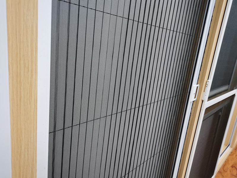 Pleated insect screens for folding doors, windows and skylights