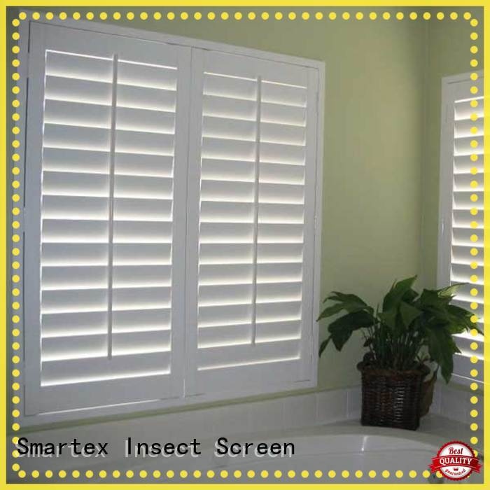 Smartex pvc shutter blinds from China for home