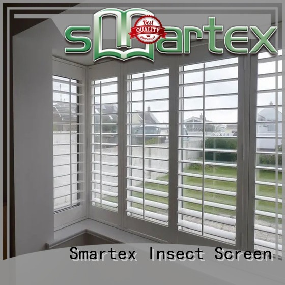 factory price pvc shutter blinds directly sale for preventing insects