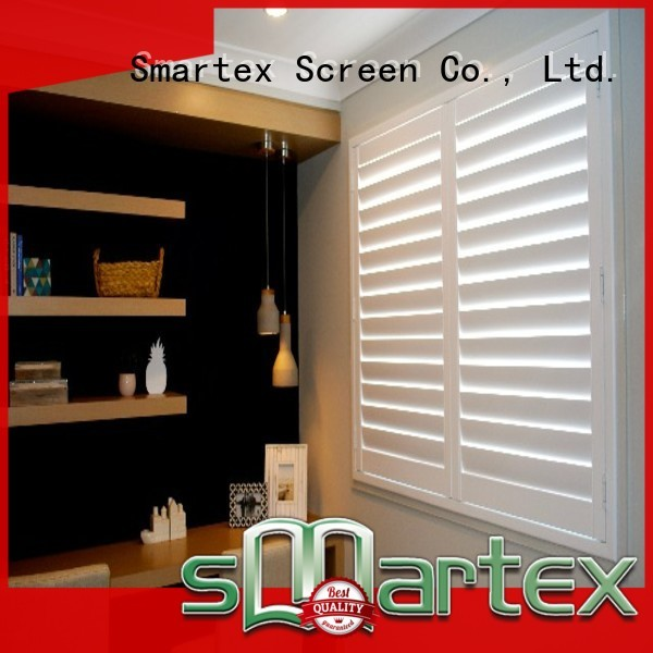 Smartex best price pvc window shutters factory for comfortable life