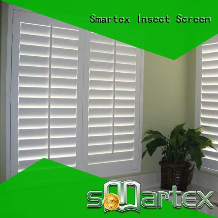 Smartex pvc shutter blinds factory for home use