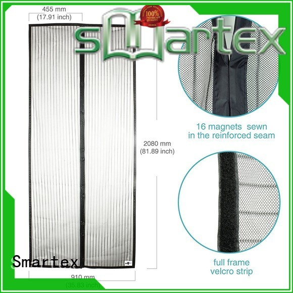 Smartex magnetic door mesh curtain factory price for preventing insects