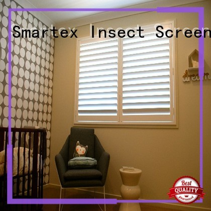 Smartex pvc window shutters with good price for preventing insects